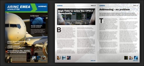 The latest issue of the ARINC EMEA Magazine (Crawley)